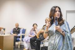 FOLIO 2019 - DGLAB e Ministério da Cultura d Índia apresentamMOMENTO MUSICAL DE MÚSICA INDIANA- RUI MARTINS (sitar)MESA REDONDA COM ESCRITORES INDIANOSFoto: Verónica Paulo
