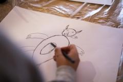 FOLIO 2019 - FOLIO EDUCAOficina: Desenhando MedosPúblico: 1.º ciclo do ensino básicoCasa José SaramagoFoto: Verónica Paulo