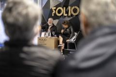 FOLIO 2019 - FOLIO MAISSempre um Papo (Brasil) apresentaApresentação de Livro: Abraços Negados, em Retratos de Simone PaulinoTENDA DOS EDITORES E LIVREIROSFoto: Verónica Paulo