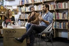 FOLIO 2019 -  FOLIO MAISPenguin Random House apresentaConversa de escritorescom João Tordo e Hugo GonçalvesLIVRARIA DO MERCADO/CASA PENGUIN RANDOM HOUSEFoto: Verónica Paulo