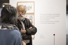 FOLIO 2019 - Visita de José Aurélio (Escultor) à exposição PIM! com Mafalda MilhõesFoto: Verónica Paulo