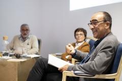 FOLIO 2019 - IELT apresentaMesa redonda: O contratempo da literaturaLuís Sousa Martins, Carlos Carreto e Teresa AraújoESPAÇO ÓFoto: Verónica Paulo