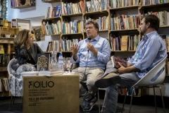 FOLIO 2019 -  FOLIO MAISPenguim Random House apresentaEduardo Dâmaso em conversa com Miguel SzymanskiLIVRARIA DO MERCADO/CASA PENGUIN RANDOM HOUSEFoto: Verónica Paulo