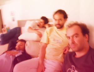 Tomás, com Domenico, Moreno e Pedro